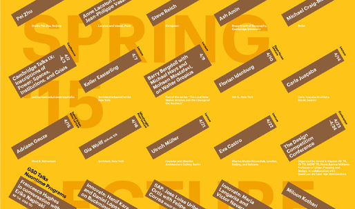 Get Lectured: Harvard GSD, Spring '15
