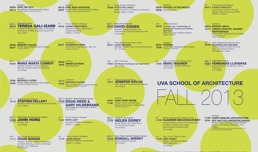 Get Lectured: University of Virginia Fall 13