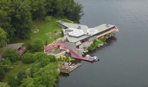 This private island with two Frank Lloyd Wright-designed homes is on the market for $14.9 mill