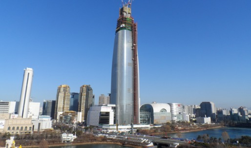 Construction in Seoul's supertall Lotte World Tower surpasses 100th story – amid safety concerns