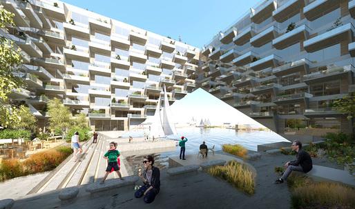 "BIG + BARCODE to design terraced ""Sluishuis"" complex in Amsterdam"