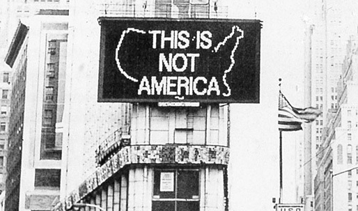 "A Lost Cause? Alfredo Jaar's ""A Logo for America"" Coming to Times Square Again"