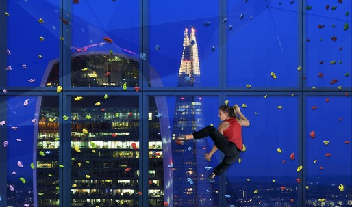 London office tower 22 Bishopsgate will have a rock climbing window