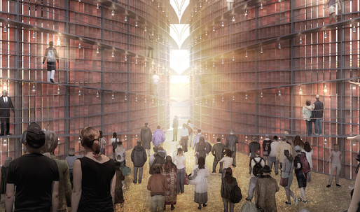 "One brick per Bible verse in Napp Studios enormous, lightbulb-infused ""Archive of Light"""