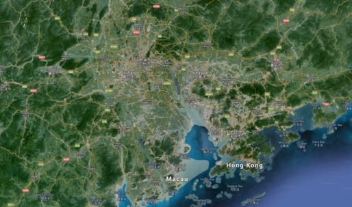 Take a look at the rapid urbanization of Chinas Pearl River Delta