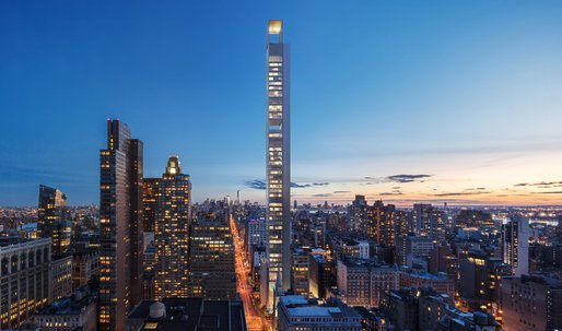 Moscow-based Meganom reveals designs for 1,001-foot skinny supertall in Nomad