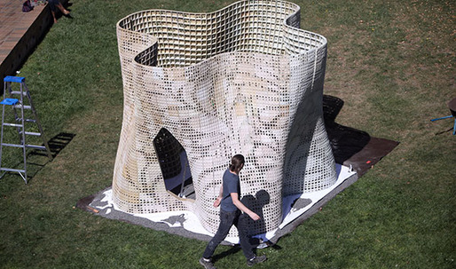 "UC Berkeley team unveils ""Bloom"" 3D-printed cement structure"