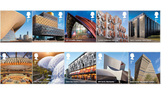 UK's Royal Mail issues 10 stamps featuring iconic modern architecture