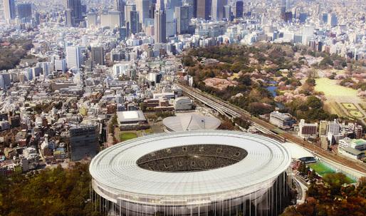 Tokyo Olympic Stadium Entry by MenoMenoPiu Architects & FHF Architectes