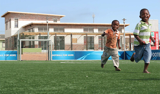 "Architecture for Humanity-designed ""Football for Hope"" Centers give African youth a solid start"