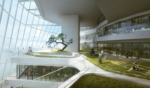 MAD reveals renderings of highly sustainable Xinhee Design Center