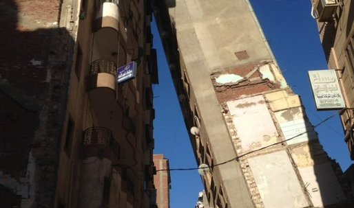 A 13-story building topples over in Alexandria, Egypt