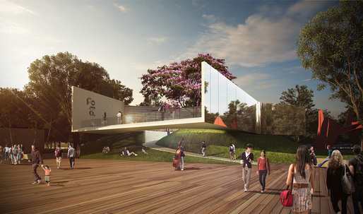 """Floating Art Platform"" - winner of the West Kowloon Arts Pavilion competition"