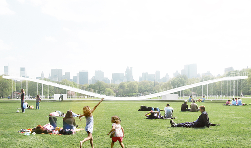 Chang Kyu Lee + Dokyung Kim win the Central Park Summer Pavilion Competition, 2nd Prize 'the plaYform'