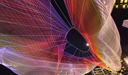 Bright nights at TED2014 Vancouver with Chrome-powered aerial sculpture