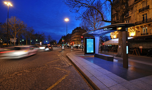 High Tech Bus Stop in Paris by Patrick Jouin