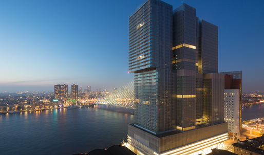 """OMA completes De Rotterdam """"Vertical City"""" Tower"""