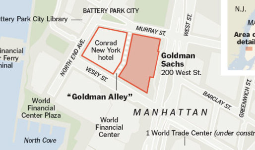 Goldman Sachs occupies Battery Park City?