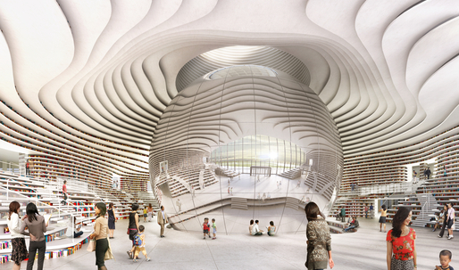 "A closer look at ""the eye"" in MVRDVs Tianjin Library"