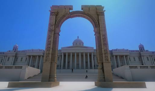 Replica of Palmyra Arch presented in New York