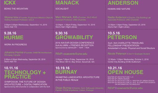 Get Lectured: University of North Carolina at Charlotte, Fall '16