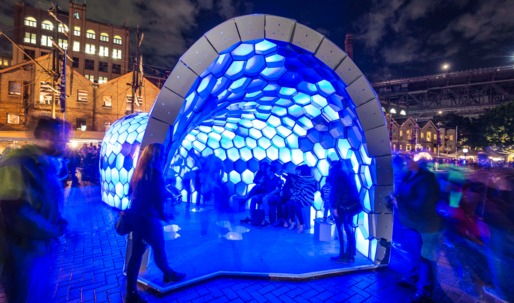 Student Works: Cellular Tessellation pavilion lights the way in Sydney