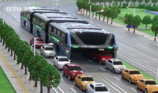 Chinas transit-elevated bus is officially discontinued