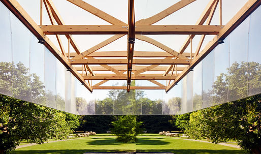 IF_DO's mirrored pavilion reflects on the Dulwich Picture Gallery