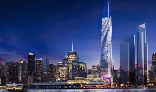 FXFOWLE proposes attaching 300-foot spire to skyscraper to become Hudson Yards' tallest