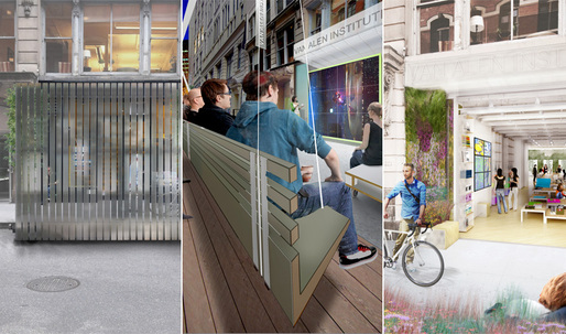 Ground/Work finalist teams reveal their designs for Van Alen Institute's new street-level space