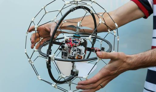 Flyability's Gimball: A bouncy, lightweight drone for safe, search-and-rescue building navigation