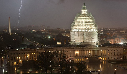 The race to complete the Capitol dome restoration in time for the inauguration of the 45th U.S. President