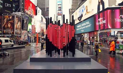 """We Were Strangers Once Too"", the 2017 Times Square Valentine Heart winner, shows love to NYCs immigrants"
