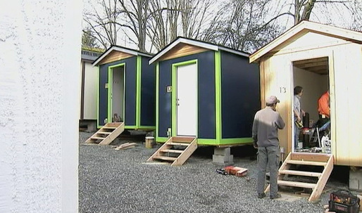 Seattle builds village for the homeless