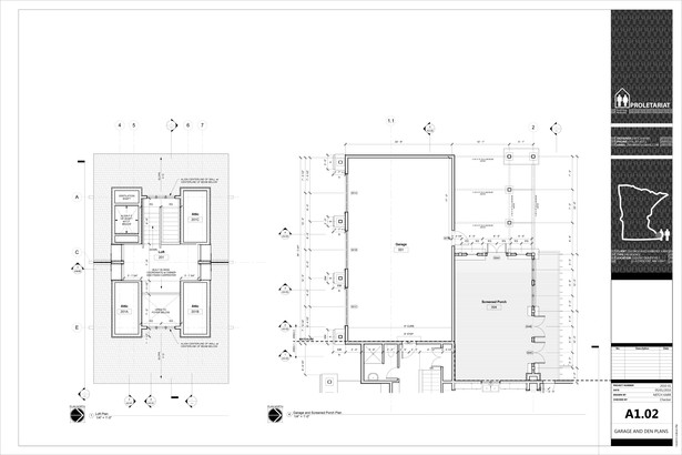 Karr Residence. Construction Drawings. Loft / Garage and Covered Patio Plans