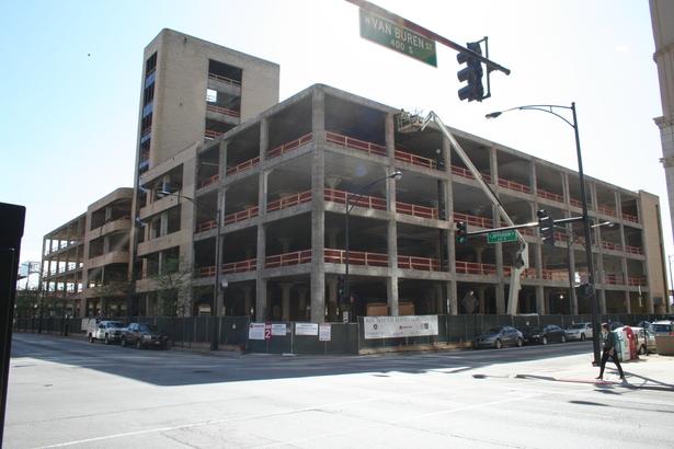 400 S Jefferson facade removal