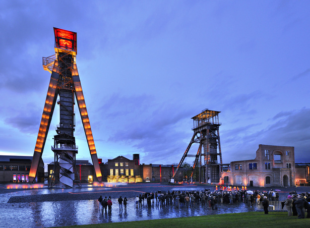 Genk C-mine night view