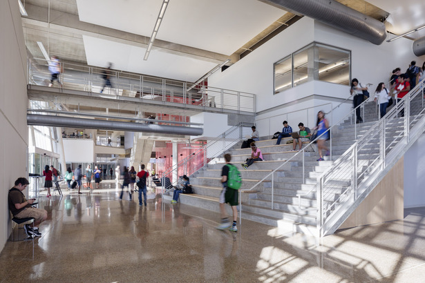 Multi-story exhibition and collaborative space (photo: Tim Griffith)