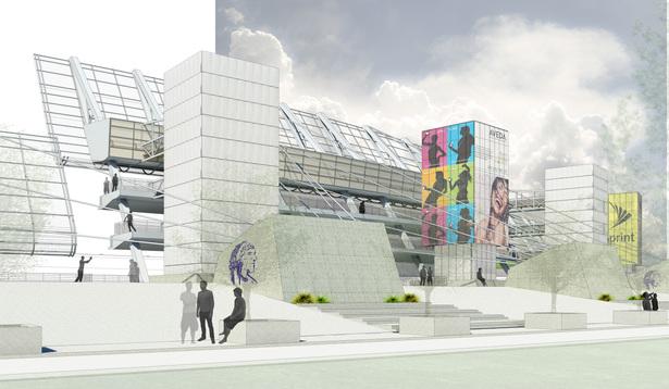 Inverted Stadium. View of Stadium From Promenade.