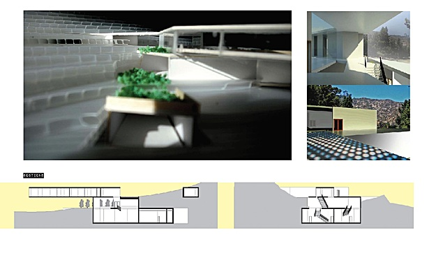 Section, Model Study, Interior Renderings