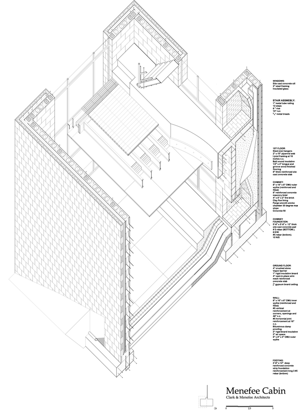 Autocad drawing - Meneffee Cabin
