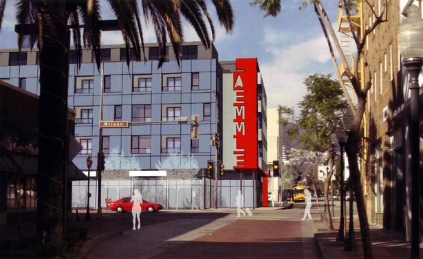 Laemmle Cinema Lofts by Withee Malcolm Architects (approved November 2011)