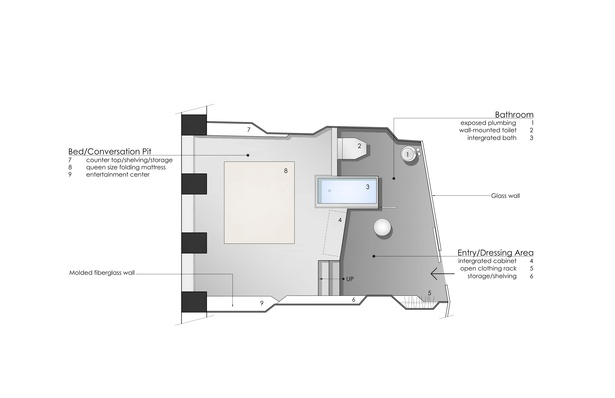 Enlarged Typical Unit Floor Plan