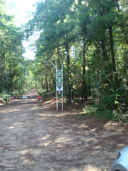 signage at trail entry