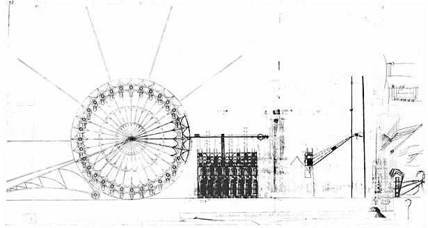 conceptual sketch of pod unloading mechanism