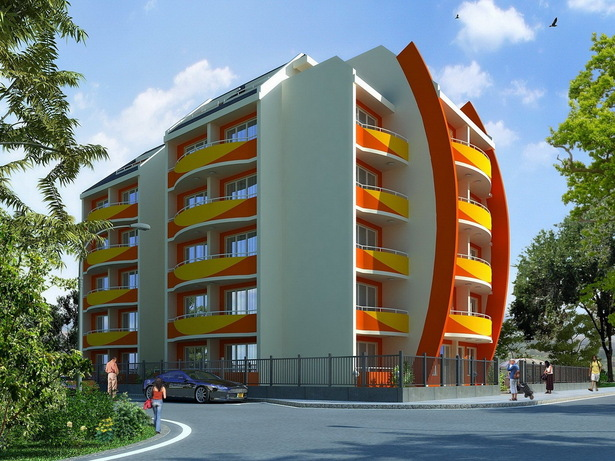 "Complex Of Holiday Apartments ""ORANGE Residence"" - visualization"