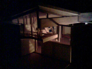 study model 1, night view