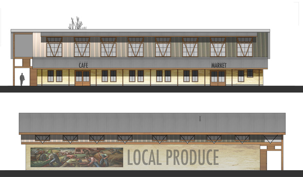 Cafe and Market Building Elevation