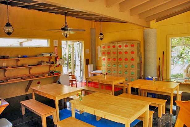 Chameleon Pavilion interior