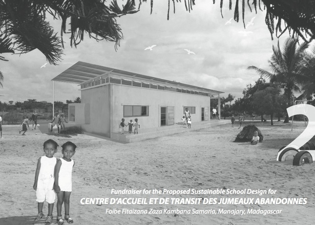 Exterior perspective of the School for Twin Orphans